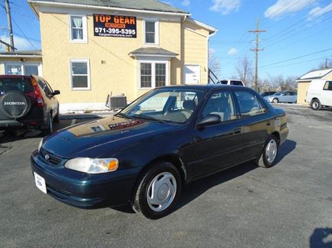 1999 Toyota Corolla for sale at Top Gear Motors in Winchester VA