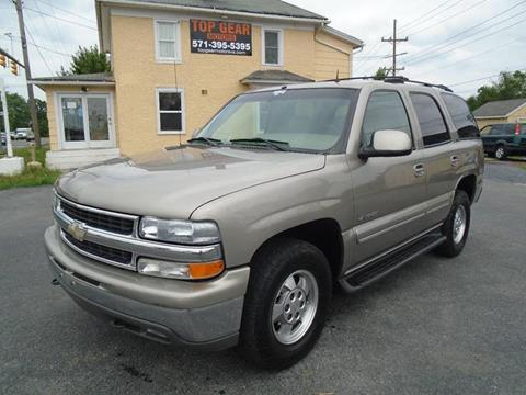 2002 Chevrolet Tahoe for sale at Top Gear Motors in Winchester VA