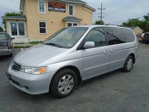 2003 Honda Odyssey for sale at Top Gear Motors in Winchester VA