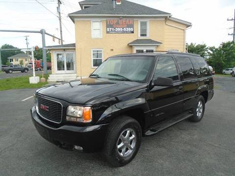 2000 GMC Yukon for sale at Top Gear Motors in Winchester VA
