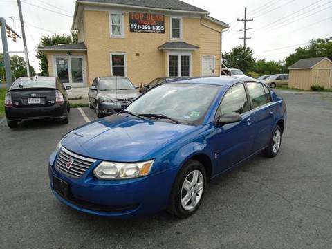 2006 Saturn Ion for sale at Top Gear Motors in Winchester VA