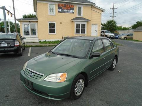 2003 Honda Civic for sale at Top Gear Motors in Winchester VA