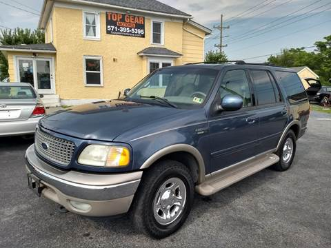 2002 Ford Expedition for sale at Top Gear Motors in Winchester VA