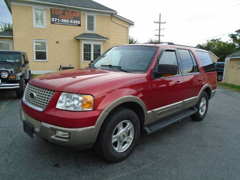 2003 Ford Expedition for sale at Top Gear Motors in Winchester VA