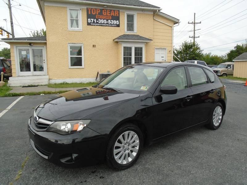 2010 Subaru Impreza for sale at Top Gear Motors in Winchester VA