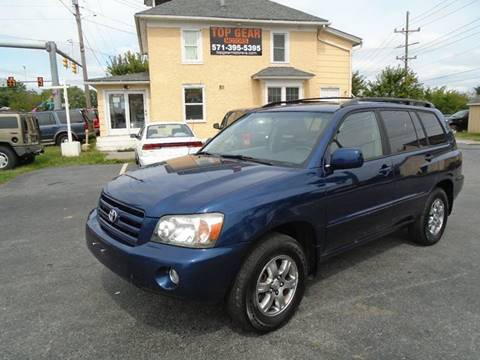 2004 Toyota Highlander for sale at Top Gear Motors in Winchester VA