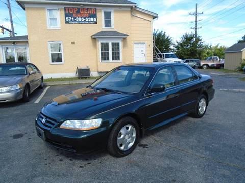 2001 Honda Accord for sale at Top Gear Motors in Winchester VA
