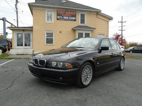 2002 BMW 5 Series for sale at Top Gear Motors in Winchester VA