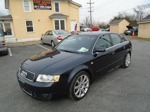 2004 Audi A4 for sale at Top Gear Motors in Winchester VA