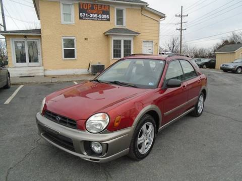 2003 Subaru Impreza for sale at Top Gear Motors in Winchester VA