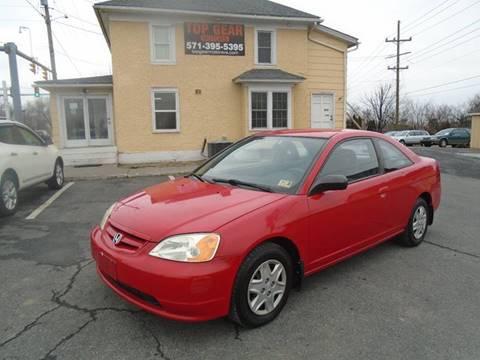 2003 Honda Civic for sale at Top Gear Motors in Winchester VA