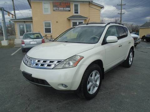 2004 Nissan Murano for sale at Top Gear Motors in Winchester VA