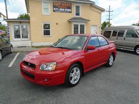 2004 Subaru Impreza for sale at Top Gear Motors in Winchester VA