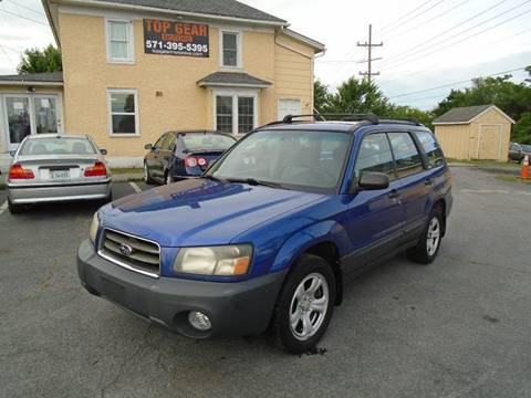 2003 Subaru Forester for sale at Top Gear Motors in Winchester VA