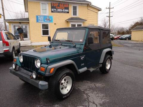 1997 Jeep Wrangler for sale at Top Gear Motors in Winchester VA