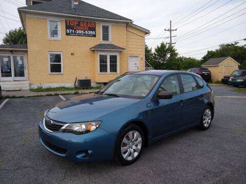 2008 Subaru Impreza for sale at Top Gear Motors in Winchester VA