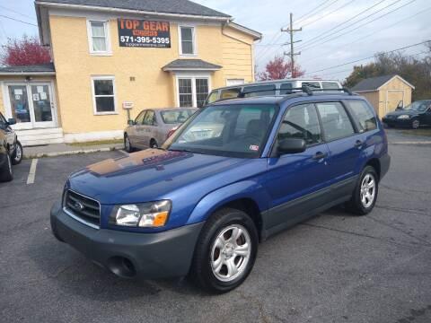 2003 Subaru Forester for sale at Top Gear Motors in Winchester VA