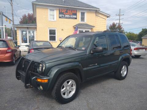 2002 Jeep Liberty for sale at Top Gear Motors in Winchester VA