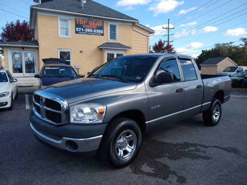 2008 Dodge Ram Pickup 1500 for sale at Top Gear Motors in Winchester VA