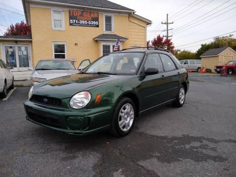 2003 Subaru Impreza for sale at Top Gear Motors in Winchester VA