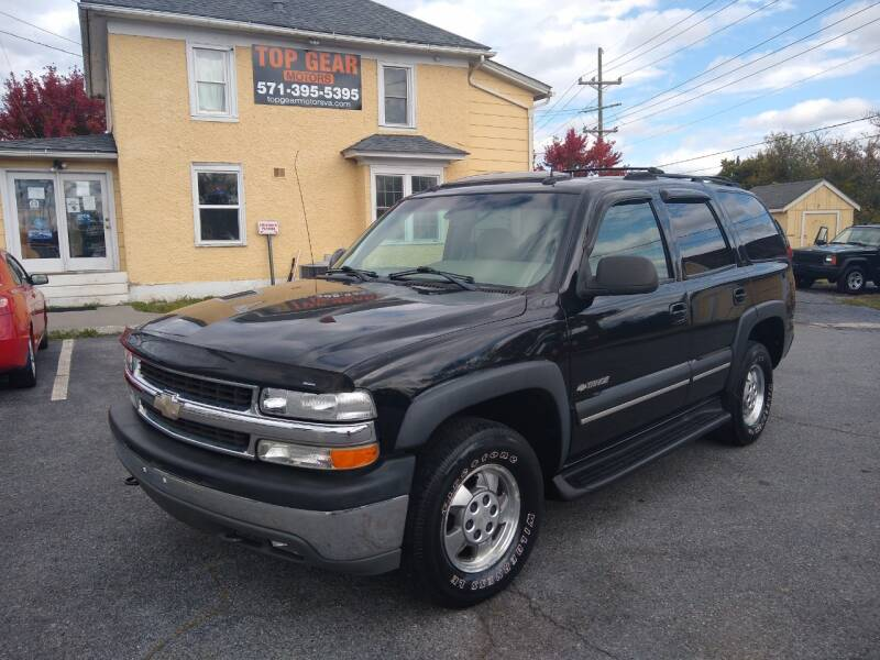 2003 Chevrolet Tahoe for sale at Top Gear Motors in Winchester VA