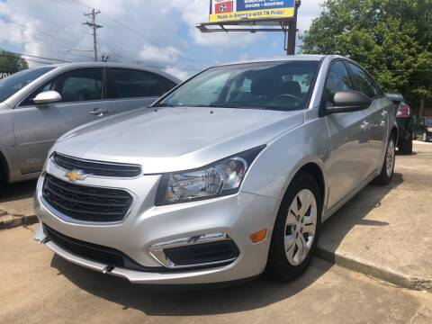 2015 Chevrolet Cruze for sale at Wolff Auto Sales in Clarksville TN