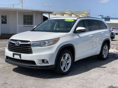2015 Toyota Highlander for sale at Palm Beach Motors in Lake Worth FL