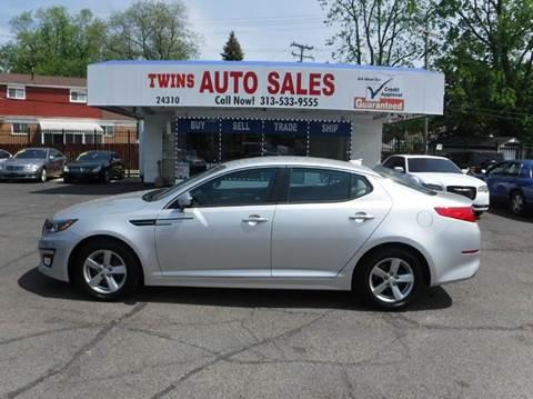 2015 Kia Optima for sale at Twins Auto Sales Inc - Detroit Lot in Detroit MI