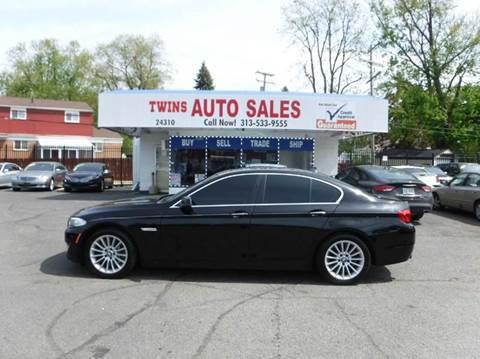 2012 BMW 5 Series for sale at Twins Auto Sales Inc - Detroit Lot in Detroit MI