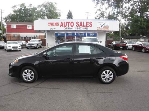 2017 Toyota Corolla for sale at Twins Auto Sales Inc - Detroit Lot in Detroit MI