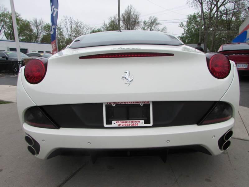 2013 Ferrari California for sale at Twins Auto Sales Inc - Redford Lot in Redford MI