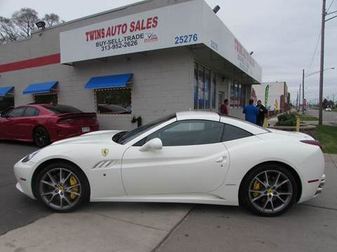 2013 Ferrari California for sale at Twins Auto Sales Inc - Redford Lot in Redford MI