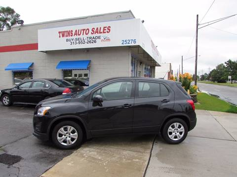 2016 Chevrolet Trax for sale at Twins Auto Sales Inc - Redford Lot in Redford MI