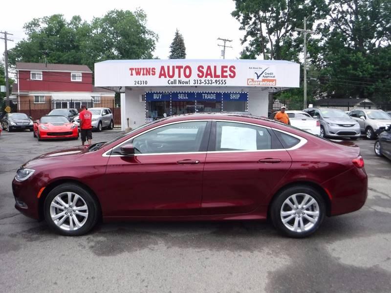 2015 Chrysler 200 for sale at Twins Auto Sales Inc - Detroit Lot in Detroit MI