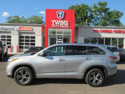 2016 Toyota Highlander for sale at Twins Auto Sales Inc - Detroit in Detroit MI