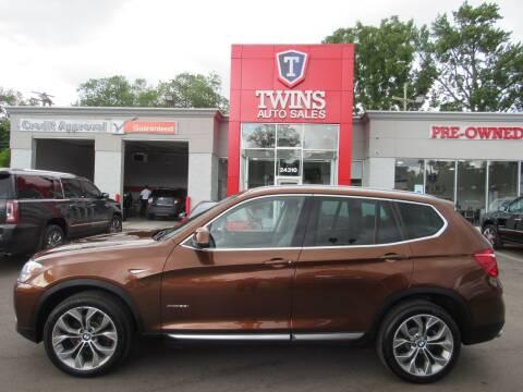 2017 BMW X3 for sale at Twins Auto Sales Inc - Detroit in Detroit MI