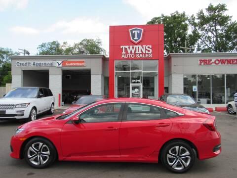 2017 Honda Civic for sale at Twins Auto Sales Inc - Detroit in Detroit MI