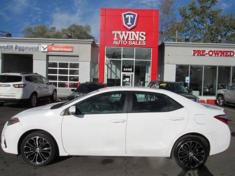 2016 Toyota Corolla for sale at Twins Auto Sales Inc - Detroit in Detroit MI
