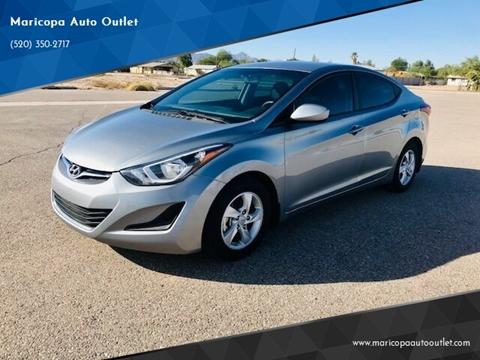 2015 Hyundai Elantra for sale at Maricopa Auto Outlet in Maricopa AZ