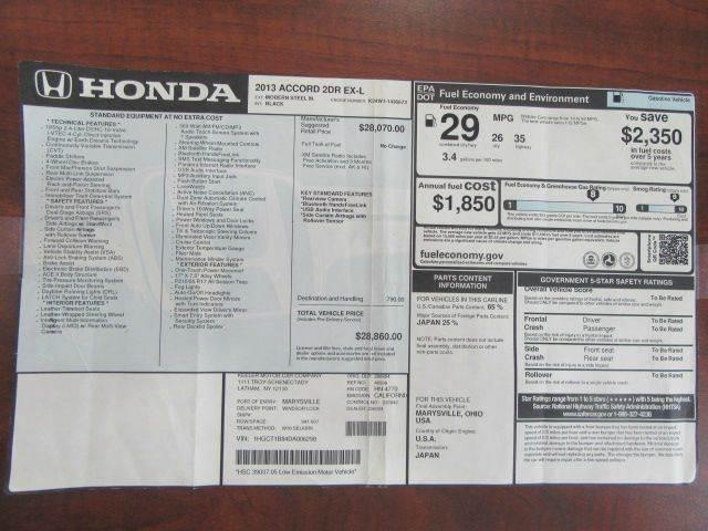2013 Honda Accord EX-L 2dr Coupe - Troy NY