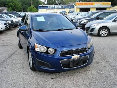 2012 Chevrolet Sonic for sale at PREMIER MOTORS OF PEARLAND in Pearland TX