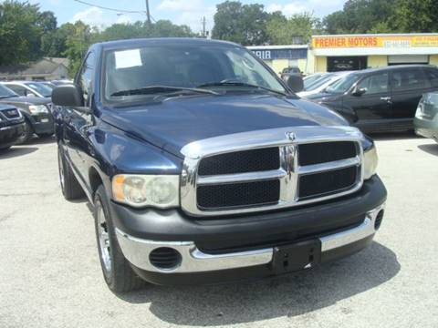 2004 Dodge Ram Pickup 1500 for sale at PREMIER MOTORS OF PEARLAND in Pearland TX