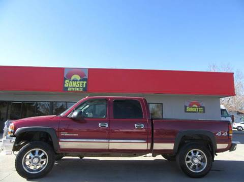 2005 GMC Sierra 2500HD for sale at Sunset Auto Sales & Repair in Lasalle CO