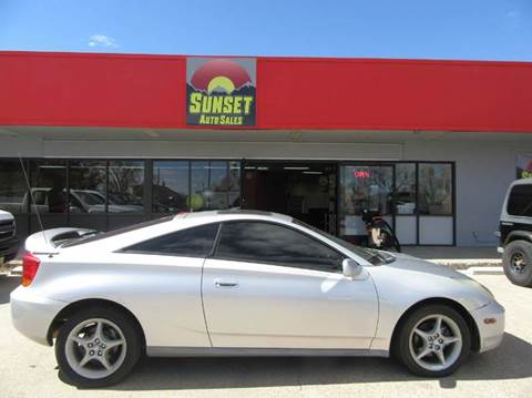 2000 Toyota Celica for sale at Sunset Auto Sales & Repair in Lasalle CO