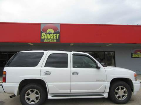 2003 GMC Yukon for sale at Sunset Auto Sales & Repair in Lasalle CO