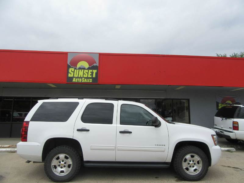 2010 Chevrolet Tahoe for sale at Sunset Auto Sales & Repair in Lasalle CO