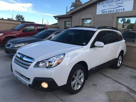2013 Subaru Outback for sale at His Motorcar Company in Englewood CO