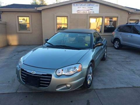 2004 Chrysler Sebring for sale at His Motorcar Company in Englewood CO