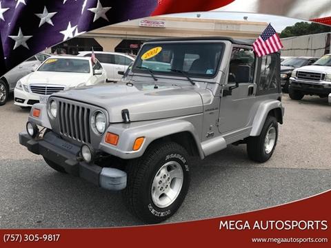 2001 Jeep Wrangler for sale at Mega Autosports in Chesapeake VA