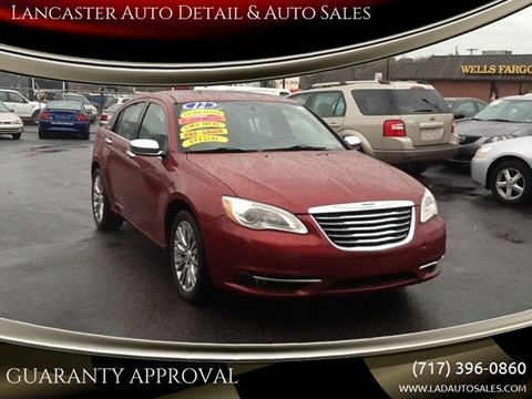 2012 Chrysler 200 for sale at Lancaster Auto Detail & Auto Sales in Lancaster PA